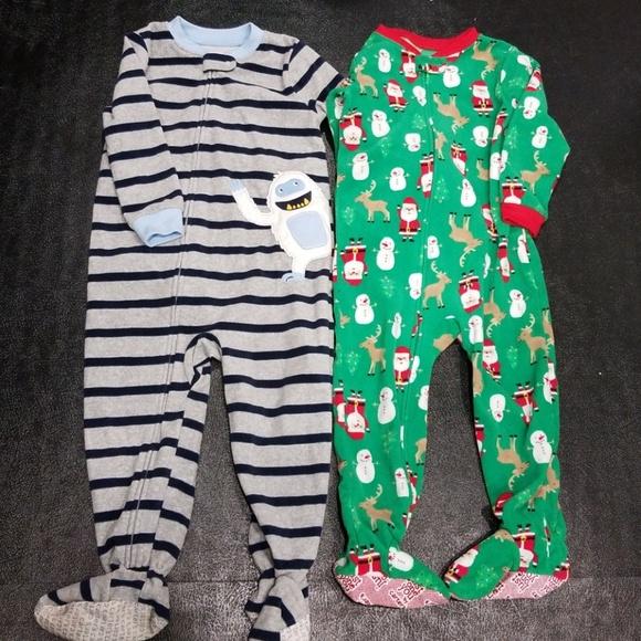 1f4525452 Carter's Pajamas   2 For 1 Fleece Footed   Poshmark